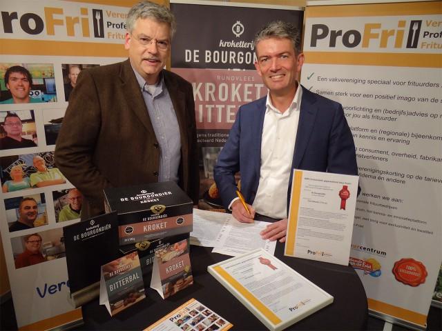 2015-03-18 - Marcel Joosten en Frans van Rooij ondertekening exclusiviteit Bourgondier